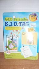 1986 HASBRO GLO FRIENDS GLOWORM KID TAG LUGGAGE TAG GLOWS IN THE DARK NIP