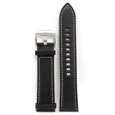 Original Samsung Galaxy Watch 3 41mm Stitch Leather Band (20mm) Strap  - Black