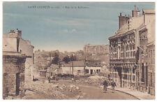 CPA 2 Aisne Saint-Quentin en 1921, Rue de la Raffinerie