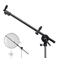 Photo Light Panel Reflector Studio Arm Holder w/ Grip Swivel Head Holder Clamp