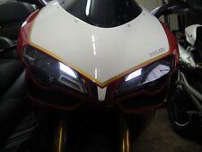►2X DUCATI 848,1098,1098S LED 1W WHITE PARKING LIGHT Metalsocket BAX9S NEU