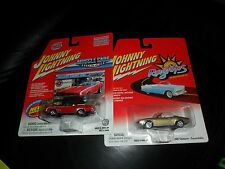 2 LOT Johnny Lightning Muscle Cars USA 1969 Chevy Camaro & 1967 Convertibles