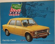 FIAT 16-page color brochure (circa 1968) 124 Special Station Wagon 128 Sedan etc