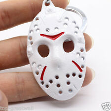 New White Color Friday the 13th Design Metal Keychain Keyring