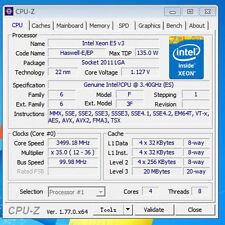 Intel Xeon E5-2637 V3 ES QEYT 3.4GHz 4C 135W 20MB 22nm LGA2011-3 CPU Processor