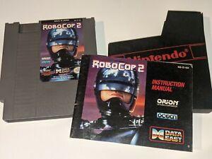 ROBOCOP 2 Vintage Nintendo NES Video Game Cartridge w/ Manual & Sleeve Data East