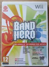 BAND HERO NINTENDO WII VIDEO GAME (NEW/SEALED) Pop Guitar Hero