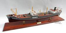 """Texaco North Dakota Oil Tanker 34"""" Handmade Wooden Oil Tanker Ship Model NEW"""