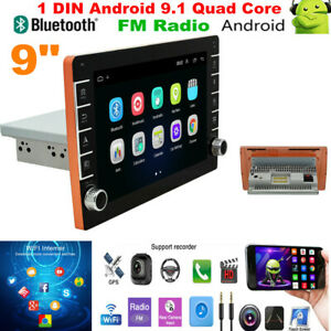 9 inch Single DIN Android9.1 Car Stereo MP5 Radio Player GPS Map Navigation Wifi