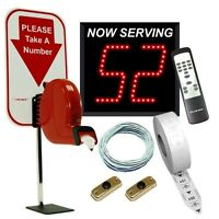 2-Digit Take A Number System with Counter Top Ticket Dispenser