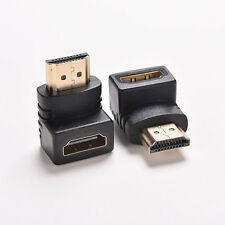 2pcs 90 Degree Right Angle Angled HDMI Male to Female Adapter Connector Cable