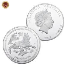 WR 2018 Australian Lunar Year of the Dog SILVER Coin Round Queen Elizabeth II $1