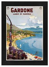 TU99 Vintage 1930's Italian Italy Gardone Lake Garda Travel Framed Poster A3/A4