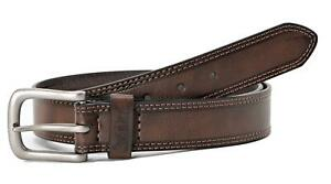 Levi's Men's 35MM Wide Classic Leather Casual Belt Tan