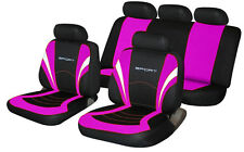 fits VOLKSWAGEN VW BORA Universal Fabric SPORTS Car Seat Covers BLACK & PINK