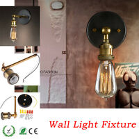 Industrial Retro Loft E27 Edison Coppor Vintage Rustic Wall Sconce Light Fixture
