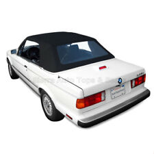 BMW 3-Series Convertible Top, 1987-93, Black Stayfast Cloth with Plastic Window