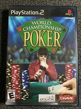 WORLD CHAMPIONSHIP POKER - PS2 - COMPLETE W/MANUAL - FREE S/H - (A)