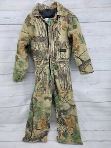 Vintage LIBERTY Outdoor Gear Insulated Camo Coveralls Boys Size 10 Reg Realtree