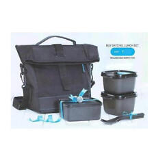 Tupperware Satchel Lunch Set 2 X 275 ml 1 X 450 ml with Cuttler Black Color