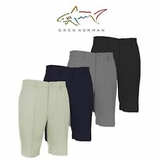 2018 Greg Norman Performance Flat Front Tech Stretch Mens Golf Shorts Many Sizes