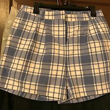 MK Women's blue and white plaid shorts size 4, 6 and 8 Reg. $130