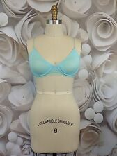 Free People Intimately Womens Sheer Turquoise Lime Green Underwire Bra 34DD