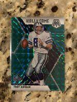 2020 Mosaic Football Troy Aikman Green Mosaic Prizm Hall Of Fame Cowboys #290