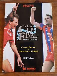 PROGRAMME FA CUP FINAL REPLAY CRYSTAL PALACE V MAN UTD 17th may 1990