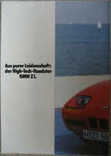 Prospekt BMW Z1 im Überformat   DIN A 3   2/87