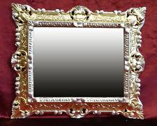 Gold Silver 345 Wall Mirror Repro 45x38CM Antique Baroque Replicate Rectangular