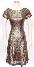 S.L. Fashion SLNY Copper Cocktail Size 4 Shift Dress A Line Women's New*