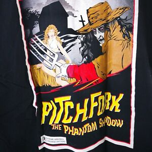 Pitch Fork The Phantom Shadow T Shirt Size XL Black Double Sides