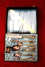 Besteckkasten mit versilbertem Besteck,8Teile.um 1920,Gebr.Hepp,90er Auflage