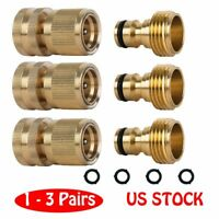 Garden Hose Quick Connect Solid Brass Quick Connector Garden Hose Fitting W P4V4