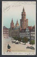 39757) Litho AK Gruß aus Heilbronn Marktplatz mit Kilianskirche 1898