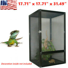 Large Tank Cage Reptile Pet Enclosure For Lizard Spider Snake Tortoise Al Alloy