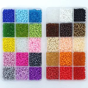 Rocailles 4mm Perlen Set Mini Glasperlen Auffädeln Box Bunt Armband Basteln ★★