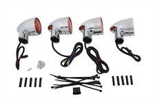 Chrome Amber Lens Turn Signal Kit for Harley Softail Touring FLHT FLST 69063-03