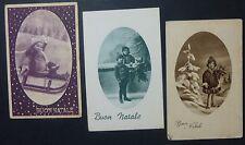 Lot 3 Postcards-Christmas-Merry Christmas-Cameos kids years'30