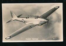 Military Aviation RAF Fairey BATTLE in flight Valentine's Series c1930s? PPC