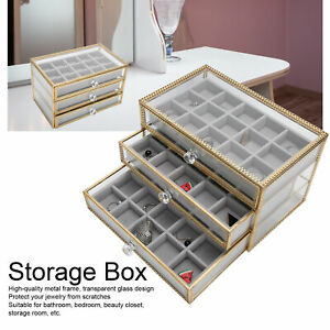 Makeup Organiser Cosmetic Storage Box Desktop Jewelry Case Nail Container