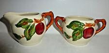 Vintage Franciscan Apple Pattern Creamer & Sugar Bowls  Made California USA