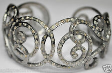 Gorgeous 5.50cts Rose Cut Diamond 925 Silver  Victorian Look Wedding Bracelet