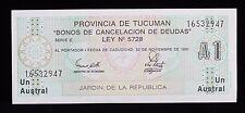 1991 Argentina Provincia De Tucaman Un Austral 16532947 S2711