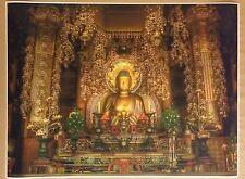 "Buddha Traditional Altar 32"" x 24"" Poster Print Nirvana Zen Peace Tranquility"