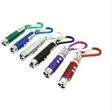 3 in 1 LED Laser Pointer UV Money Detector Flashlight Keychain Light Lamp-Red