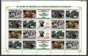 """PAKISTAN 2020 """"40 YEARS OF PRESENCE OF AFGHAN REFUGEES IN PAKISTAN"""" FULL SHEET"""