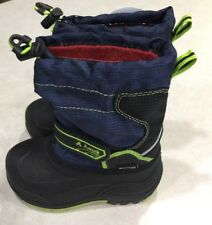 KAMIK Toddler Navy Blue/Black/Lime Green Insulated Snowboots~~Size 9