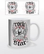 ROCK STAR 11 OZ COFFEE MUG FUNNY MUSIC METAL ROCK PUNK TEA CUP SKULL GRUNGE USA